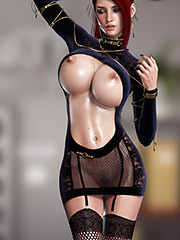 Big 3D titty fetish - Cockwork Industries (Andrea) by Digital Seductions